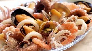 Хочу на море!! Легкий салат без майонеза