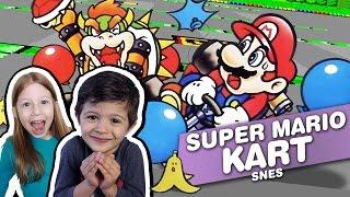 SUPER MARIO KART - SNES - Gameplay Comentado em Português PT-BR