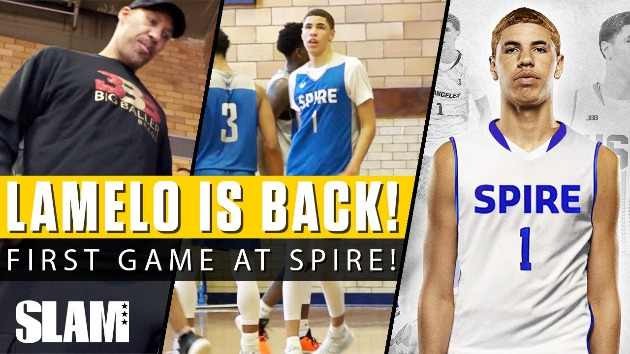 6bd61b4d57d5 LaMelo Ball is Back in High School! Drops 20   13 in SPIRE Debut ...