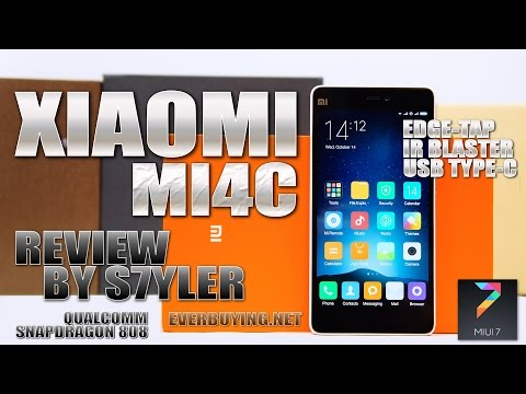 Xiaomi Mi4C (In-Depth Review) Edge Tap & USB Type-C - Video by s7yler