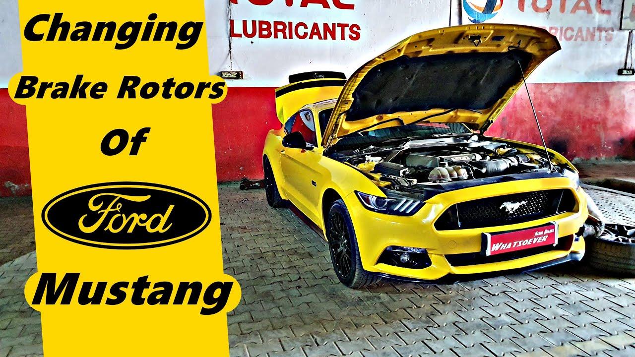Changing Brake Rotors of Ford Mustang