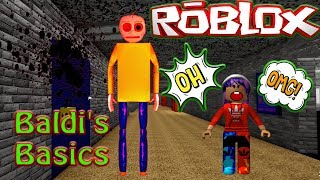 ROBLOX Baldis Basics Multiplayer try to escape from MATHS