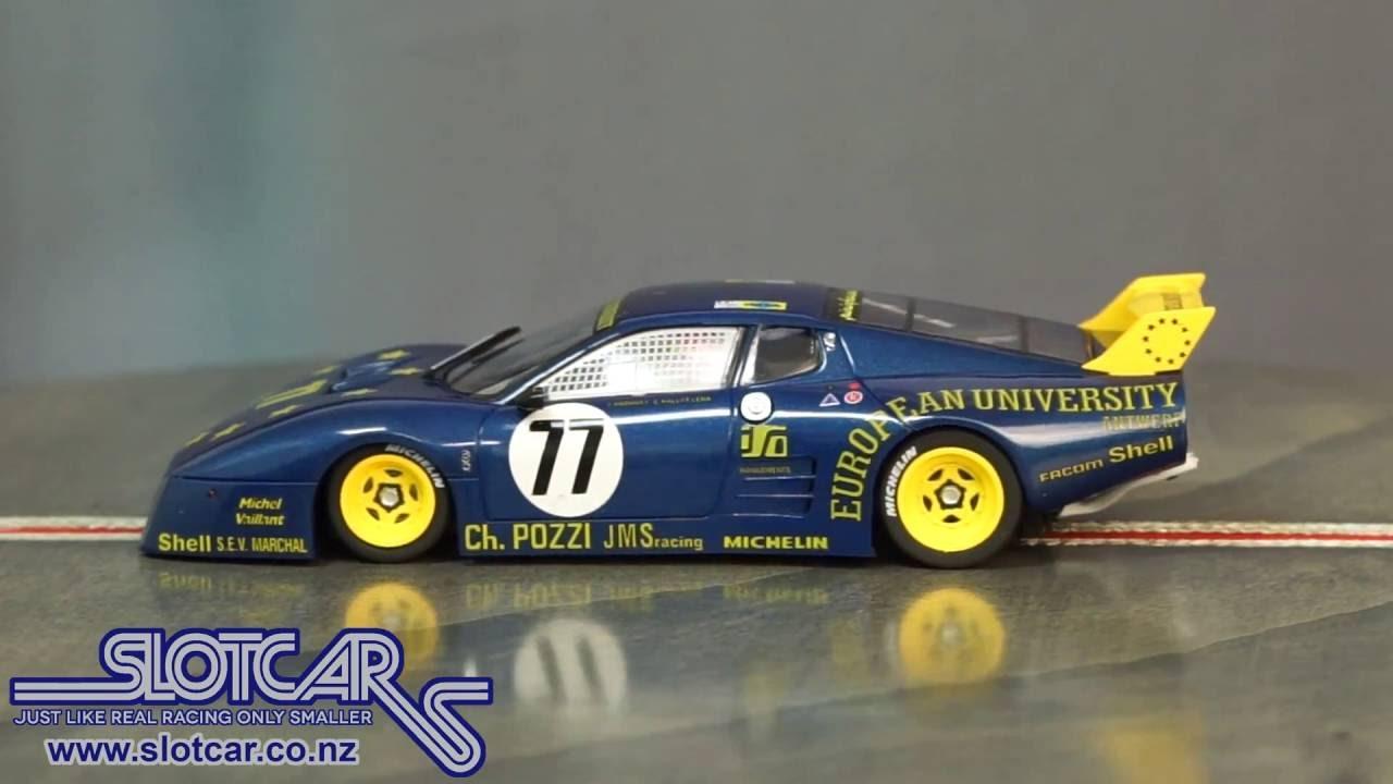 Sideways Slot Car Ferrari 512bb European University Group 5 77