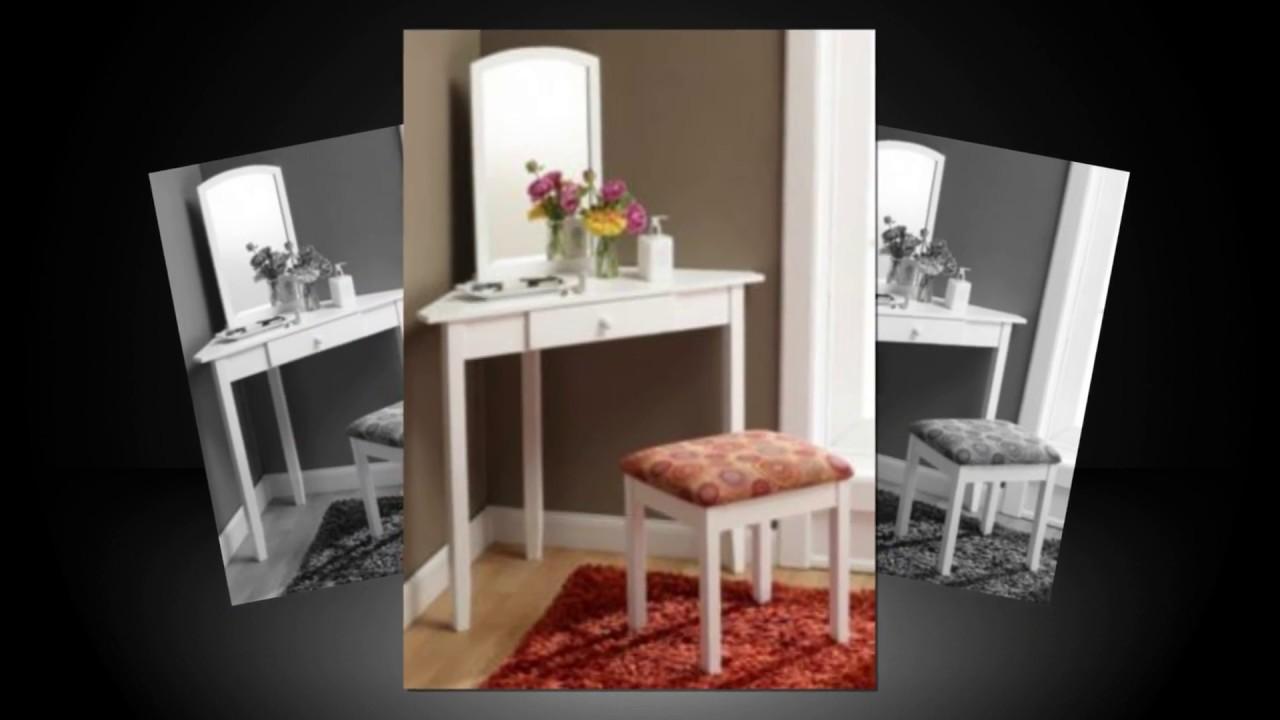 9 Popular Corner Makeup Vanity Table   Tablespedia