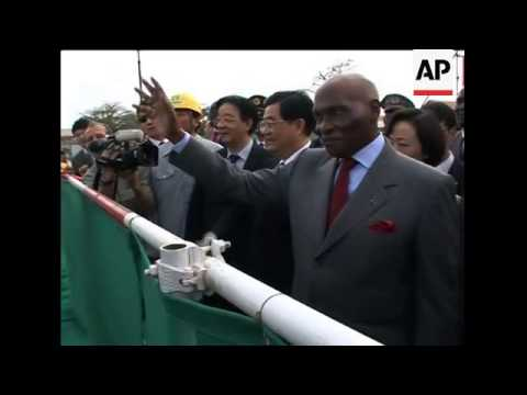 Chinese, Senegalese presidents visit theatre being built by Chinese govt