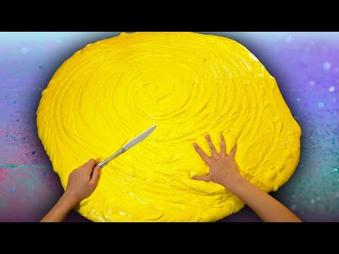 Thumbnail: Butter Slime GIANT SIZE How To! $100 DIY Slime Challenge Recipe