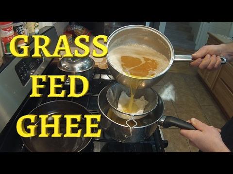 Organic Grass-Fed Ghee (Clarified Butter) Recipe - Cheesecloth Filter