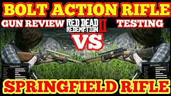 BOLT ACTION RIFLE VS SPRINGFIELD RIFLE Gun Review,Testing-Red Dead Redemption 2 Online