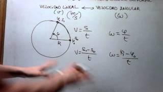 FÍS/QUÍMICA 4º SECUNDARIA: MCU - 6 ¿Qué relación hay entre velocidad lineal y velocidad angular?