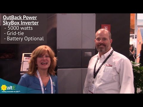 Outback Power Introduces their new inverter, SkyBox at