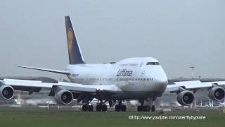 Lufthansa Boeing 747 D-ABVT very smooth landing Hamburg Airport - 20.10.2012