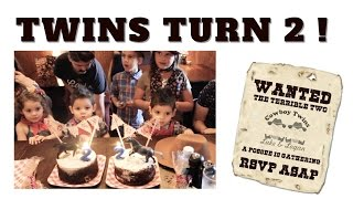WANTED: THE TERRIBLE TWO | TWINS 2ND BIRTHDAY PARTY || TwinMomPlus1