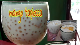 How to make mango sago/mango tapiocca salad/easy way/beat the heat