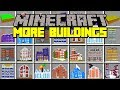 Minecraft MORE BUILDINGS MOD! | SPAWN MASSIVE STRUCTURES & HOUSES INSTANTLY! | Modded Mini-Game