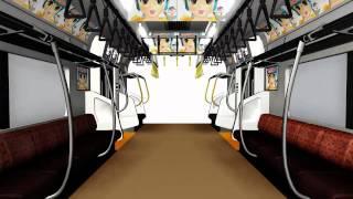 MMDモデル「JR中央線車内」テスト動画2