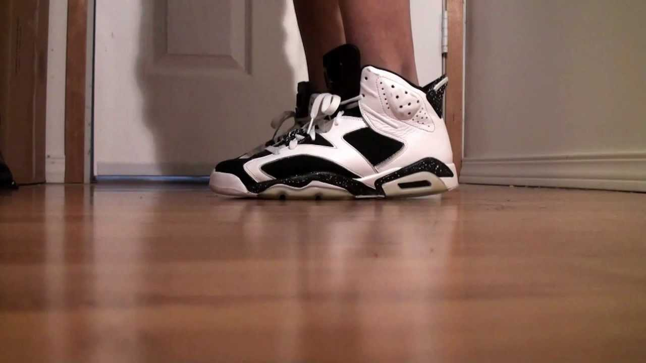d872c985512 Jordan 6 (VI) Oreo on feet - YouTube
