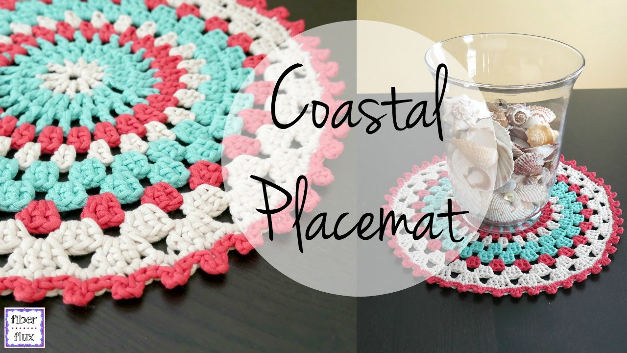 How To Crochet The Coastal Placemat Episode 327 Youtube
