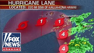Hawaii braces for inches of rainfall from Hurricane Lane