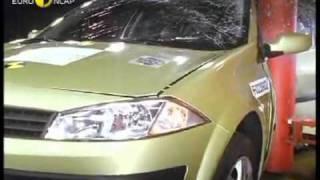 Краш тест Renault Megane 5dr 2002 (E-NCAP)