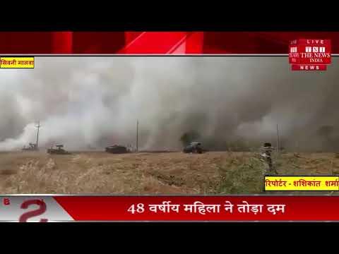 खेतों में अचानक फैली आग, किसान तबाह