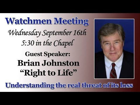 Watchmen at joshua springs right to life guest speaker for A t the salon johnstone