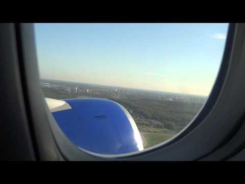Взлет и посадка самолета. Москва - Анталия  Boeing 777-200