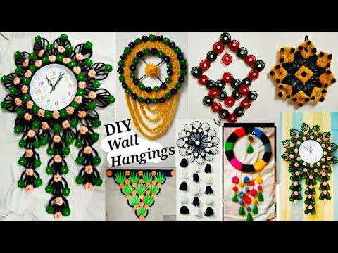 8 Beautiful Wall Hanging Ideas ||   DIY Handmade Things