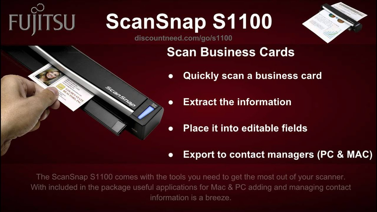 Fujitsu ScanSnap s1100 Video Review and Best Price on Fujitsu ...