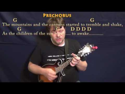 Going to California (Led Zeppelin) Mandolin Cover Lesson with Chords/Lyrics