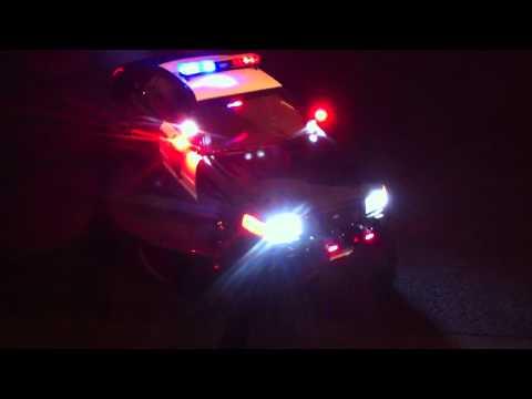 1/18 Sacramento PD with working lights / siren / live radio call