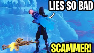 Kid Lies So Bad!! 😂(Scammer Get Scammed) Fortnite Save The World
