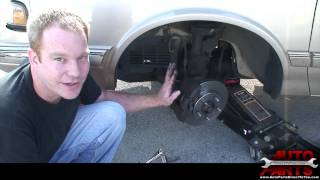 How To Remove & Install Front Brake Pads and Rotors on 1995 Oldsmobile Cutlass Ciera