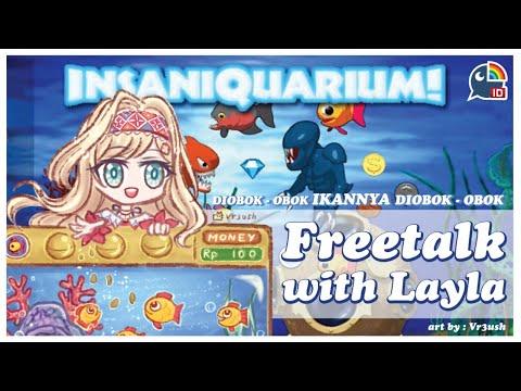 【Insaniquarium Deluxe】Diobok-obok Ikannya Diobok-obok【NIJISANJI ID   Layla Alstroemeria】