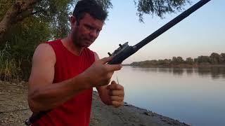 Первая рыбалка на р Кубань Сом Американский Куриная печень в действии
