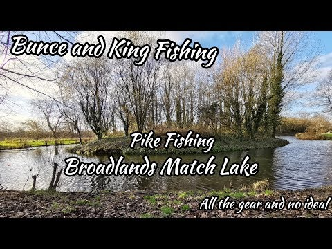 Bunce And King Fishing For Pike On Broadlands Match Lake Dec 2018