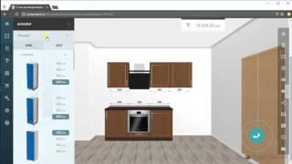 3D Конструктор кухни - Установка модулей