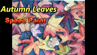 "Painting Autumn leaves in Watercolour - ""Fallen"" by Jenny Gilchrist"