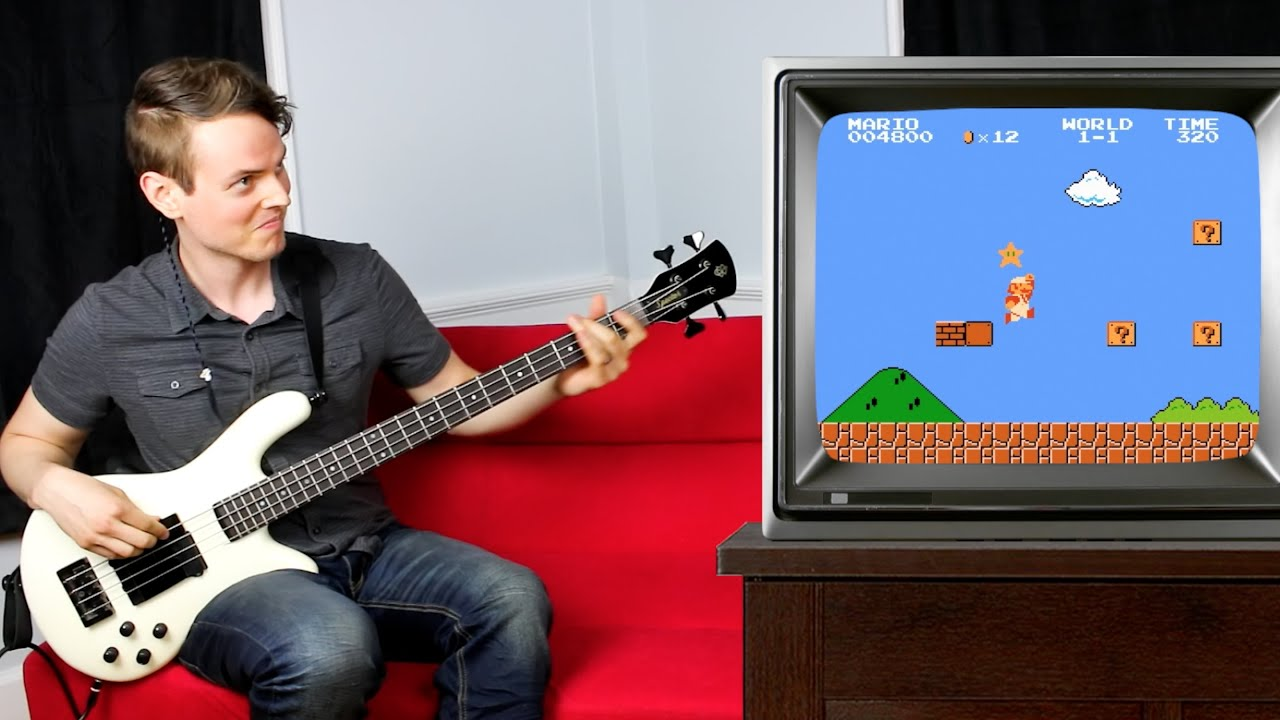 Musician Plays Super Mario Theme Song and In-Game Sound Effects on