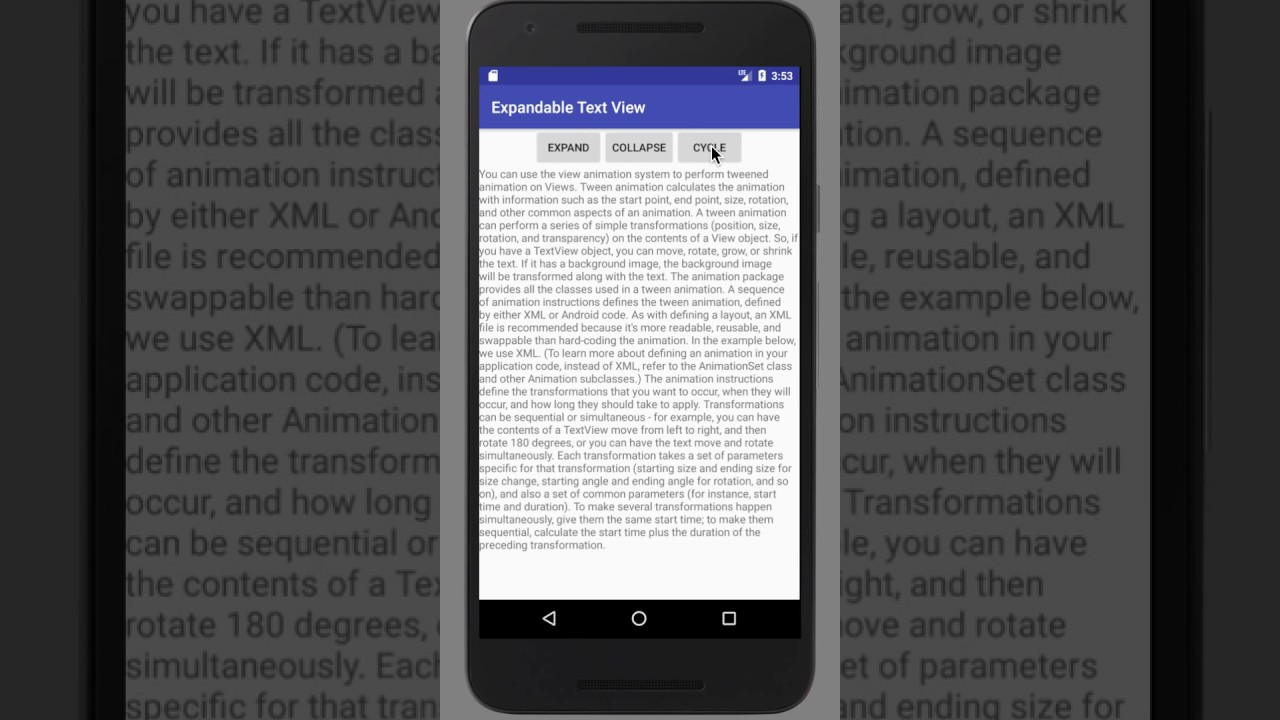 How to use Expandable Text View Android Library