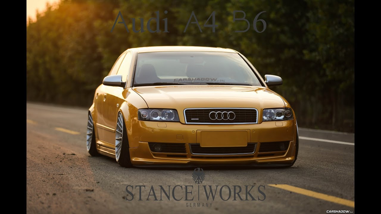audi a4 b6 stance works youtube. Black Bedroom Furniture Sets. Home Design Ideas
