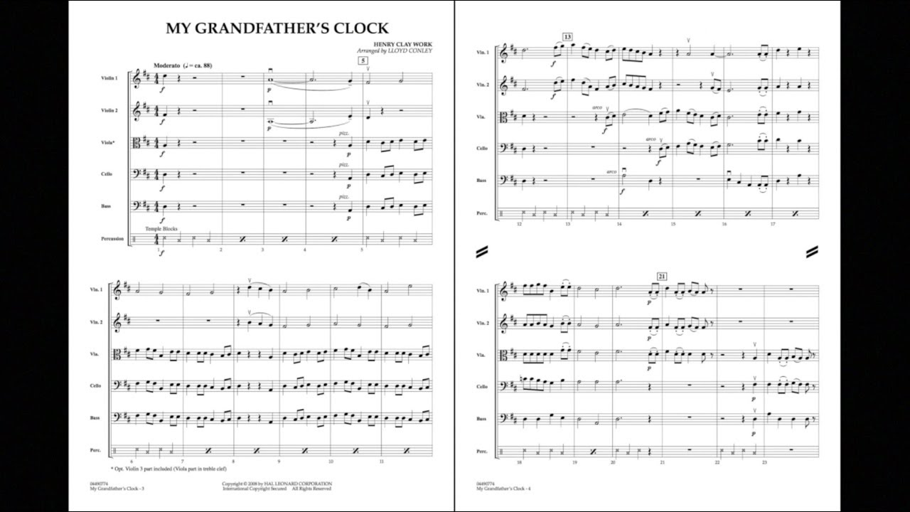 My Grandfather's Clock by Henry Clay Work/arr  Lloyd Conley