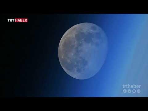 Uzayda ayın dünyanın ardında batışını görüntülendi