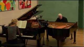 Claude Debussy - La mer, version pour 2 pianos - 2.Jeux de vagues