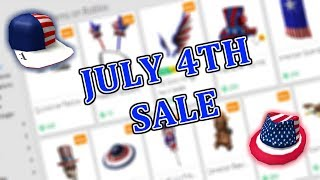 ROBLOX JULY 4TH SALE 2018