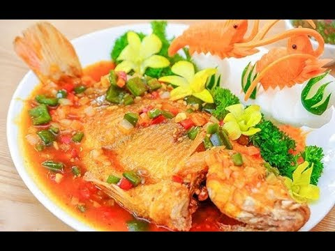 Cách làm cá diêu hồng chiên xù sốt cà chua ngon tuyệt vàng ươm tại nhà