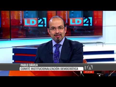 Pablo Dávila, Del Comité De Institucionalización Democrática
