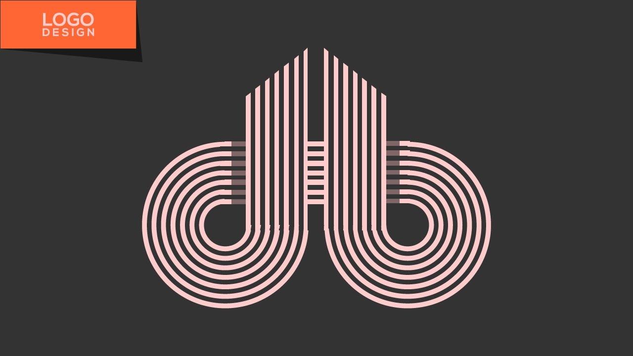 logo design tutorial with illustrator cc  db monogram