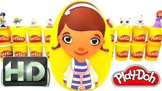 Huevo Sorpresa Gigante de Doctora Juguetes en Español Plastilina Play-Doh