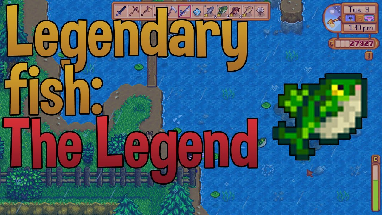 Legendary fish the legend stardew valley sticks youtube for The fish 95 5