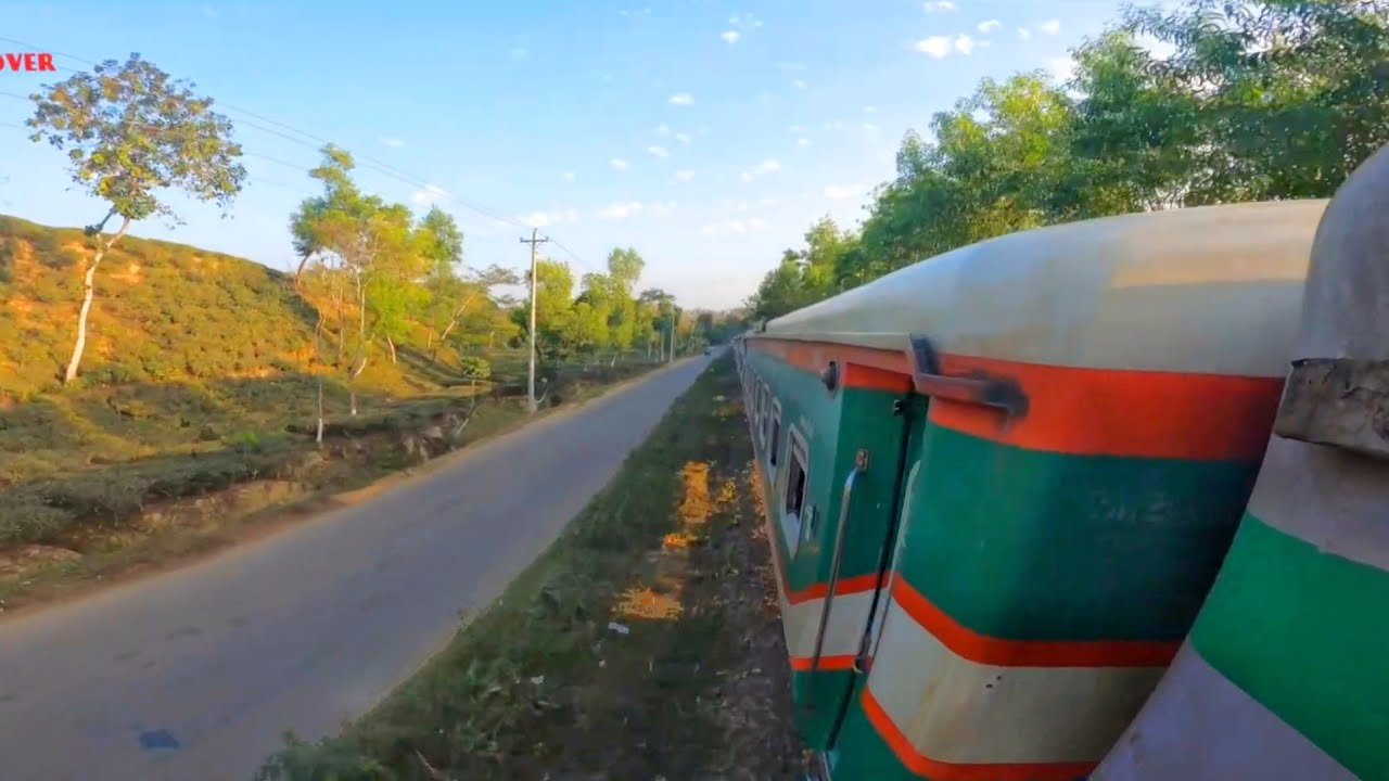 Journey By Train (parabot Express) 4k video || Sylhet to Dhaka Train